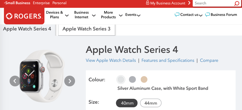 Rogers small business apple watch