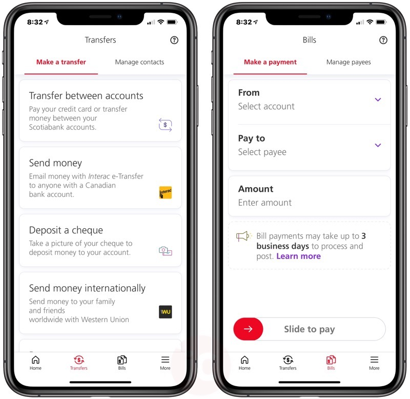 Scotiabank ios app redesign