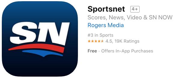 Sportsnet ios 2019