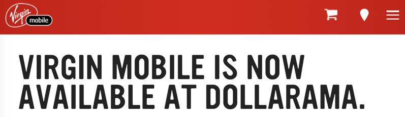 Virgin mobile dollarama