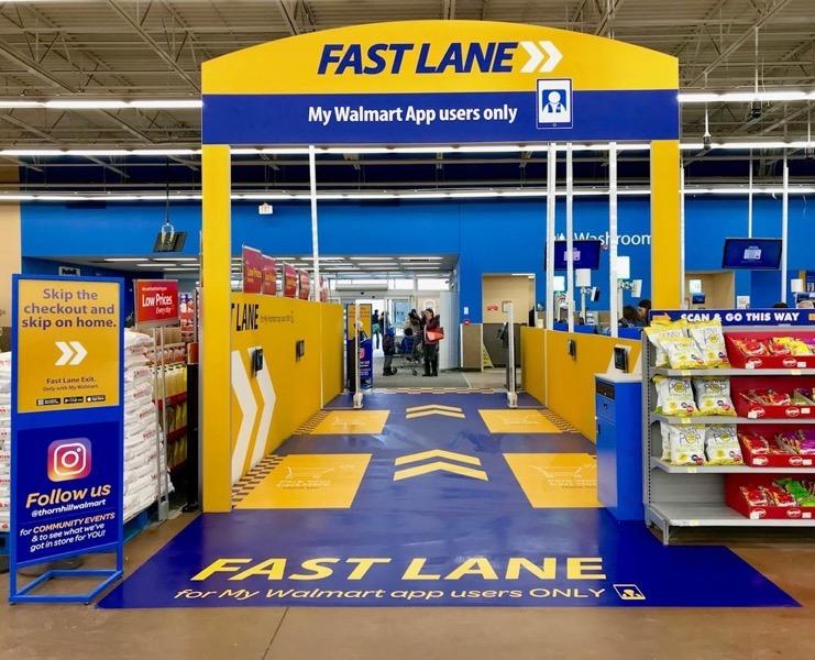 Walmart fast lane thornhill