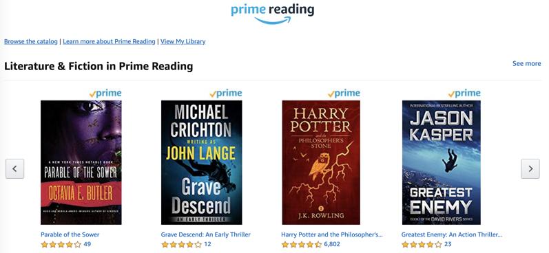 Prime reading canada