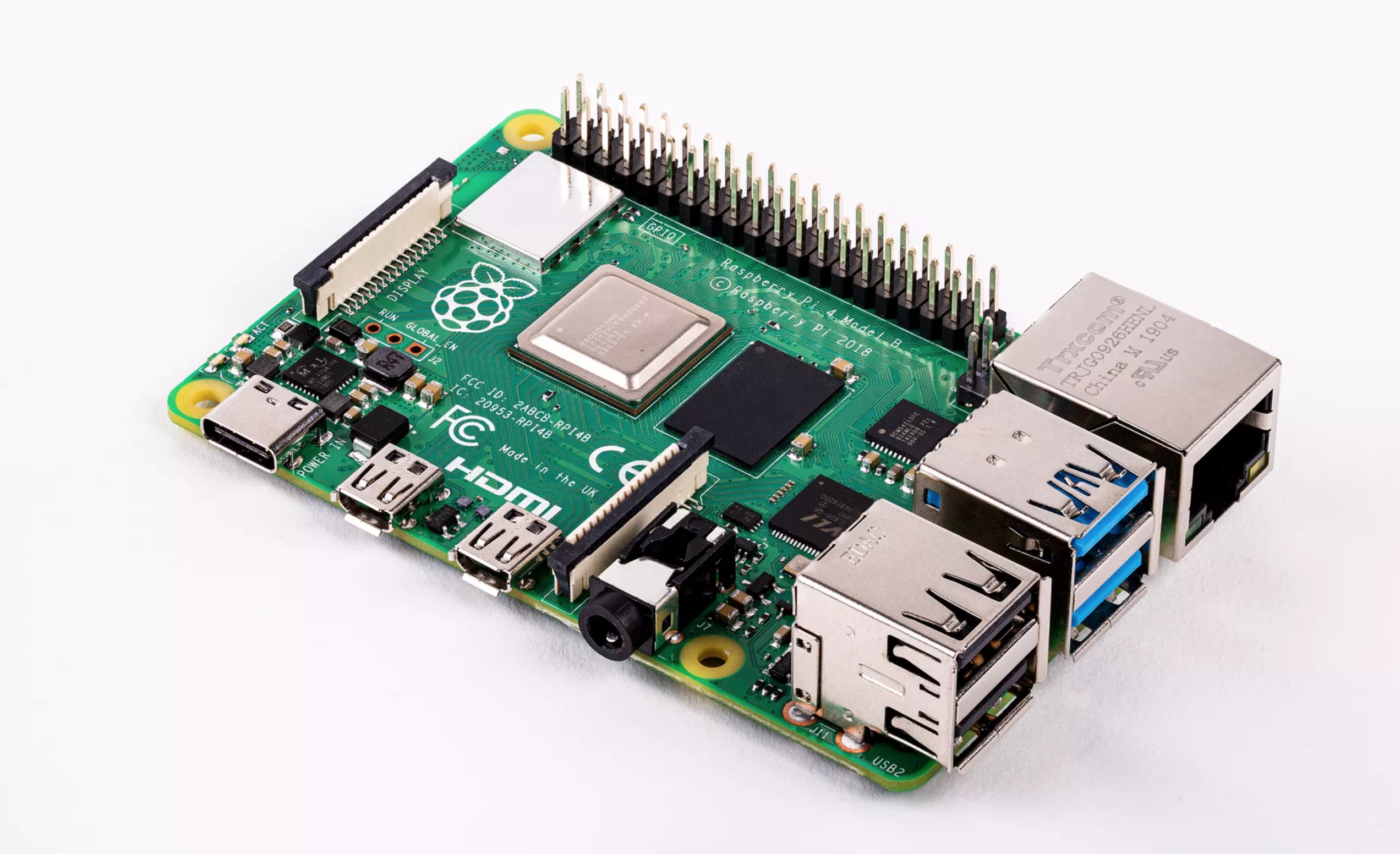 Raspberry Pi 4 Unveiled with Bigger CPU, Dual 4K Monitor Support, Up to 4GB of RAM