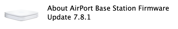 Airport base station firmware 7 8 1