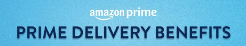 Amazon prime delivery benefits
