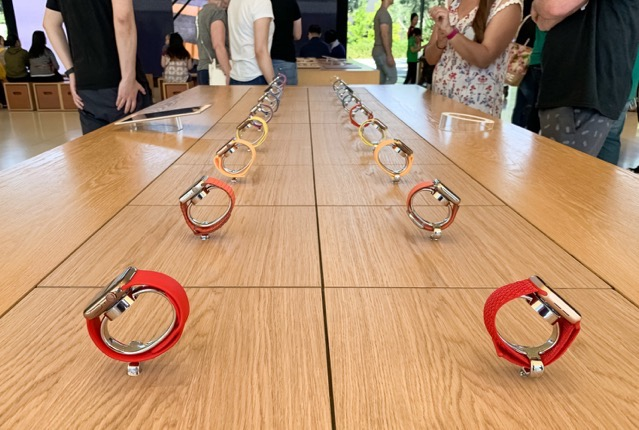 Apple watch collection table full
