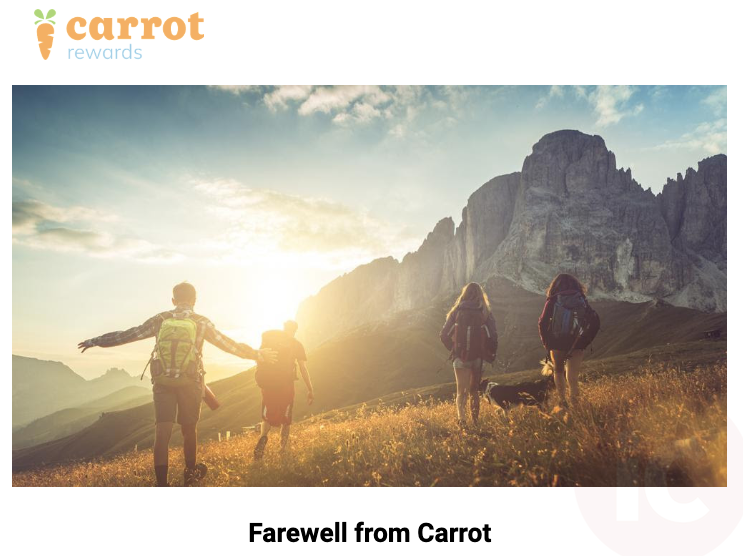 Carrot rewards game over