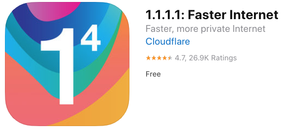 Cloudflare 1 1 1 1 ios app