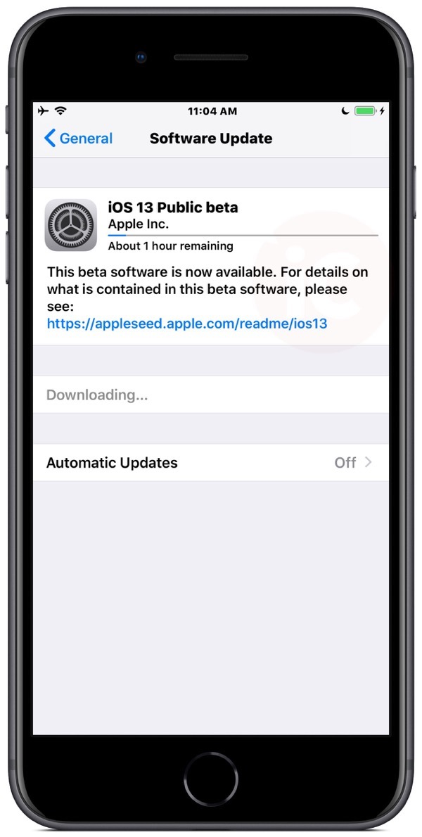 Install software update ios 13