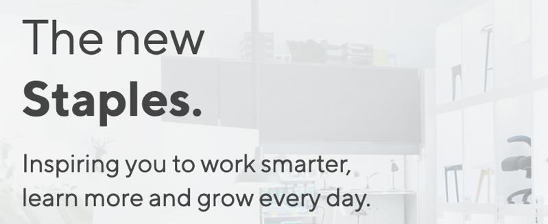 New staples website