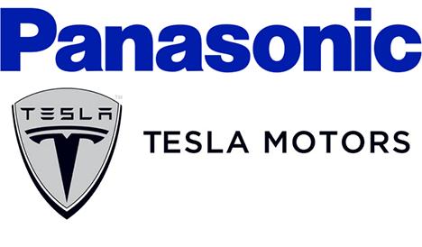 Panasonic tesla motors logos
