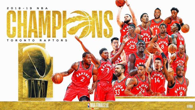Raptors nba champions twitter