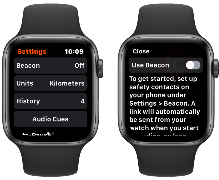 Strava apple watch beacon