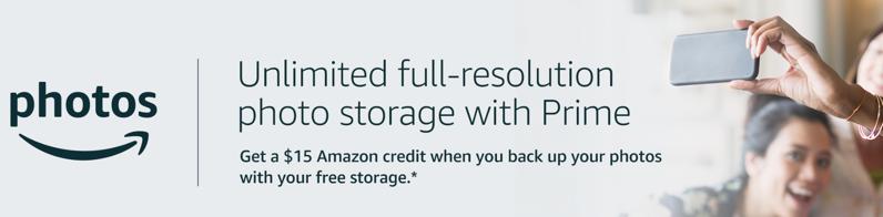 Amazon photos $15