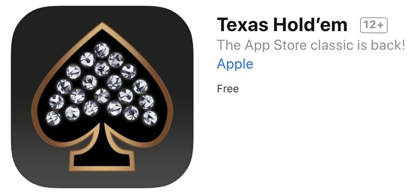 Apple texas hold em