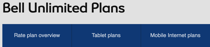 Bell unlimited plans