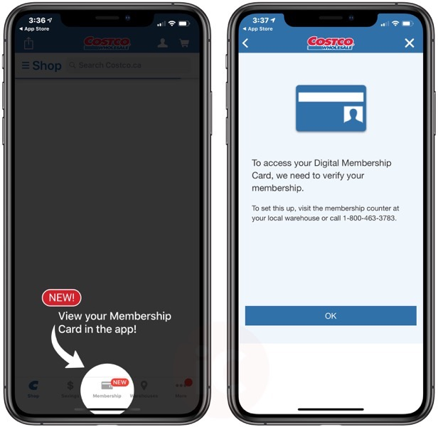 Costco iphone app membership