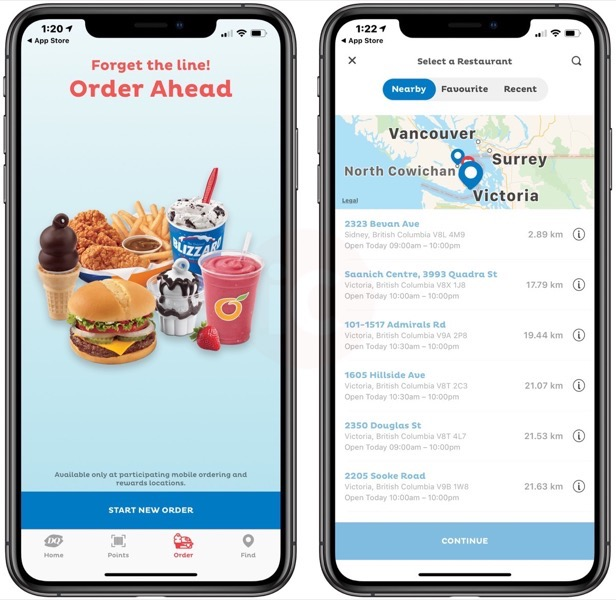 Dairy Queen iOS App Launches Mobile Ordering in Canada [u] | iPhone