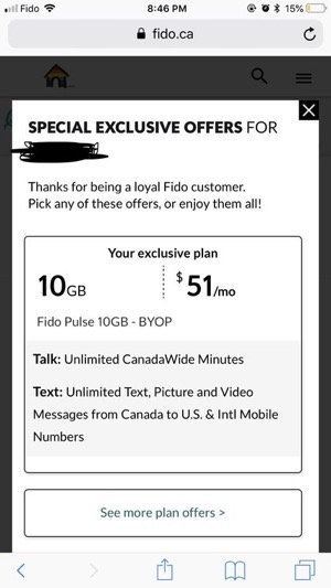 Fido $51 10gb quebec