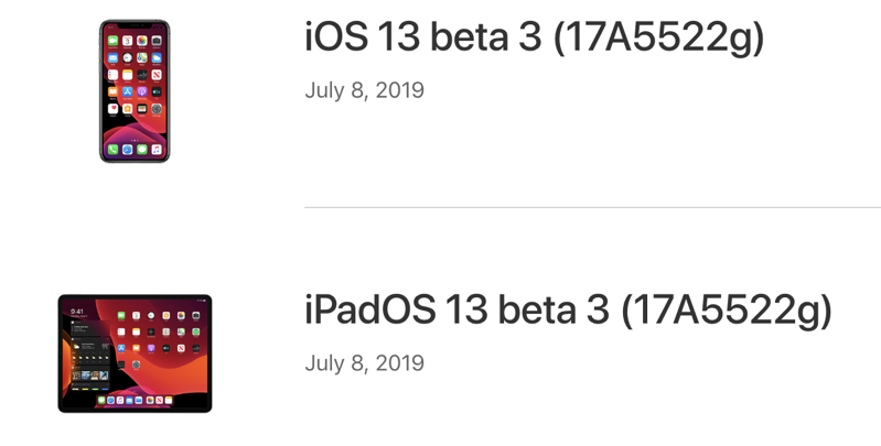 iOS 13 Beta 3 Download and iPadOS 13 Out for Developers, Public