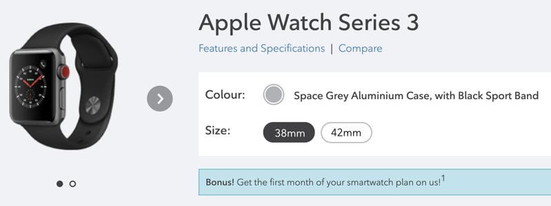 Rogers apple watch series 3