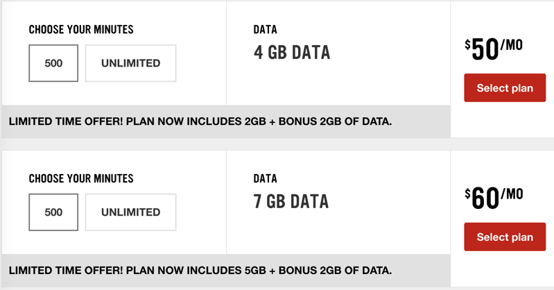 Virgin mobile $50 4gb