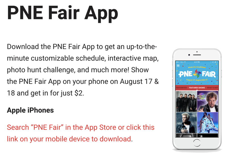Save 88% Off PNE Fair Admission by Downloading the Mobile App