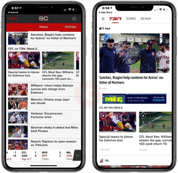 TSN ios app redesign