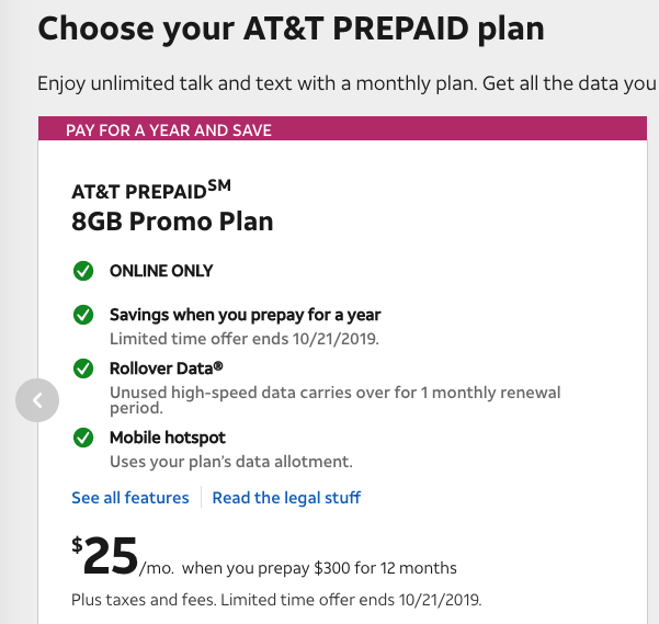 AT&T Launches $25/8GB Plan with Unlimited Talk/Text, Free