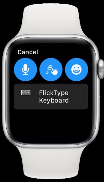 Flicktype keyboard watch