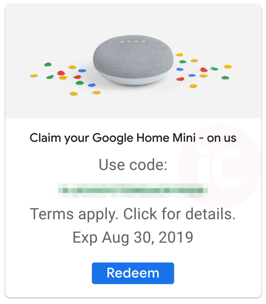 Free Google Home Mini Speaker Available for Google One