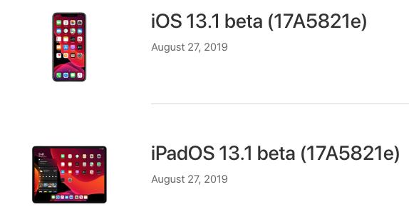 Ios 13 1 beta