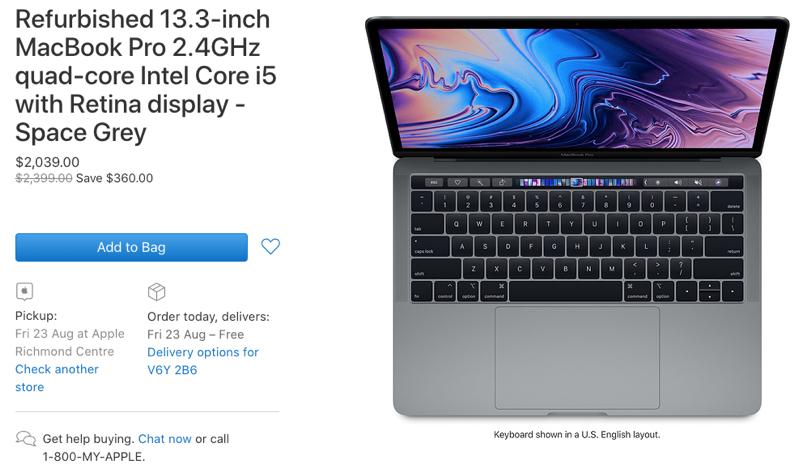 Macbook pro refurbished 2019