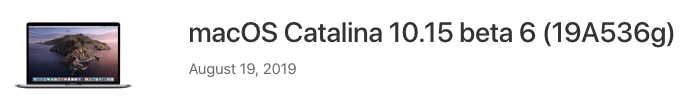 Macos catalina beta 6