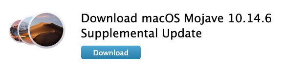 Macos mojave supplemental