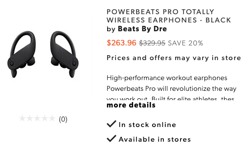 Powerbeats pro 20 off