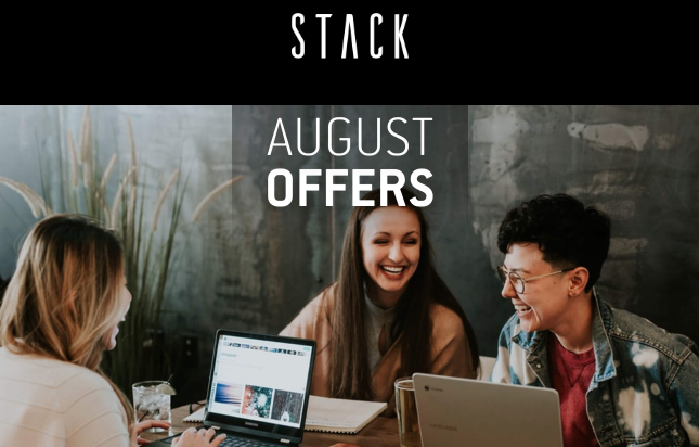 Stack august offers