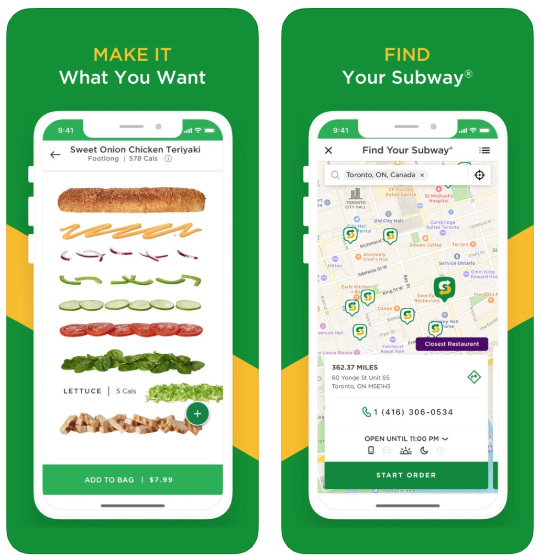 Subway mobile ordering ios