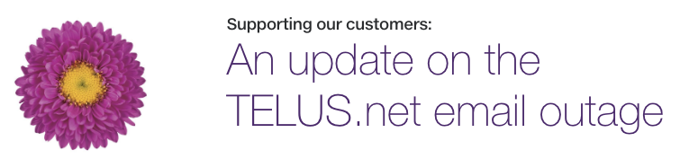 Telus net email outage