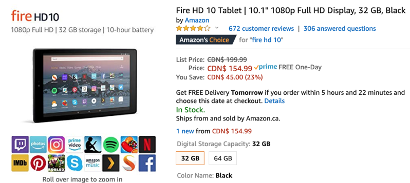 Amazon Canada Has Fire Tablets on Sale for Up to 25% Off