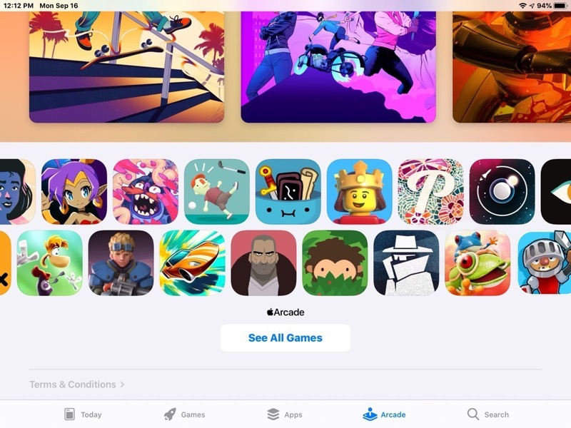 Here's the Full List of Apple Arcade Games at Launch