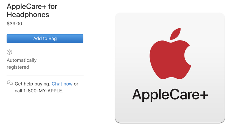 Applecare+ headphones