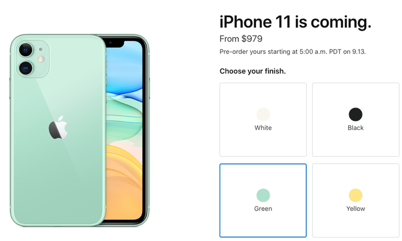 Iphone 11 pricing canada