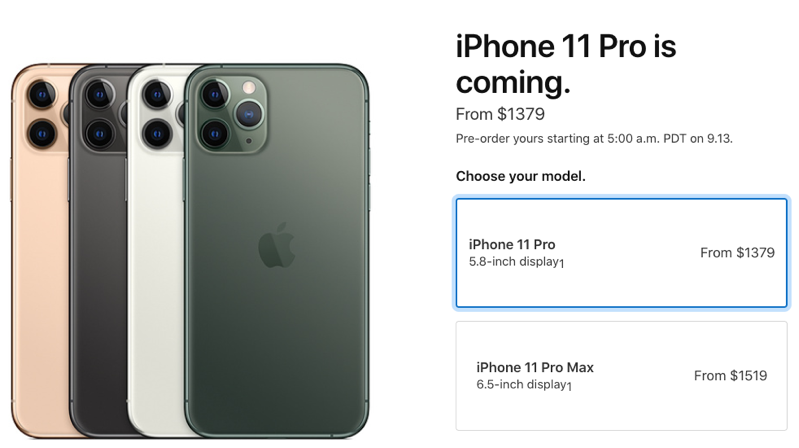 Iphone 11 pro pricing canada