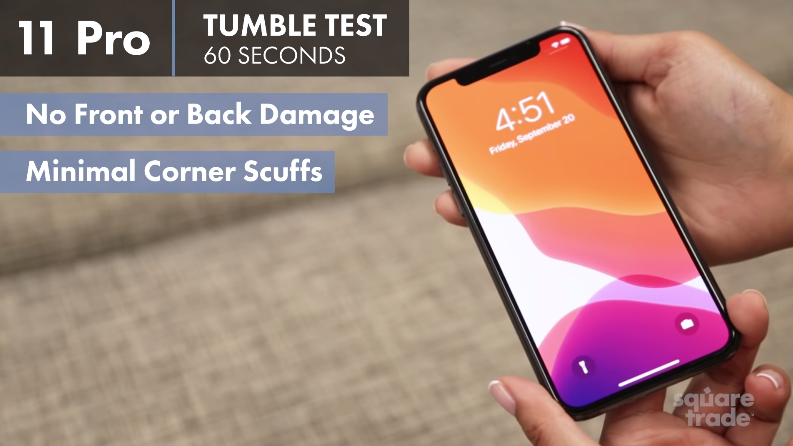 Iphone 11 pro tumble test