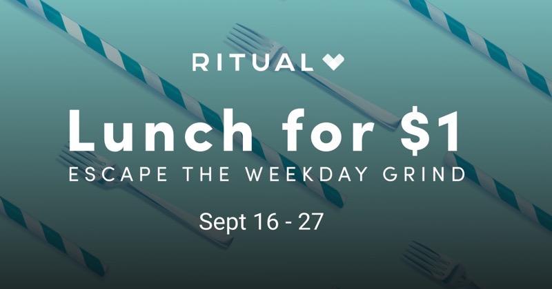 Ritual $1 lunch