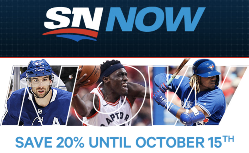 Rogers SN NOW Streaming Service Annual Passes on Sale for 20% Off