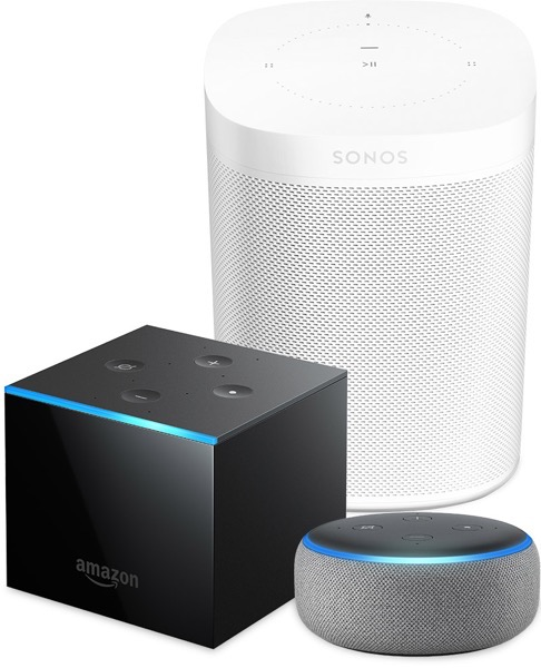 Sonos one amazon fire cube echo group