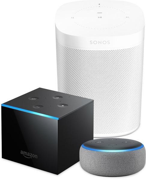 Sonos one amazon fire cube echo group