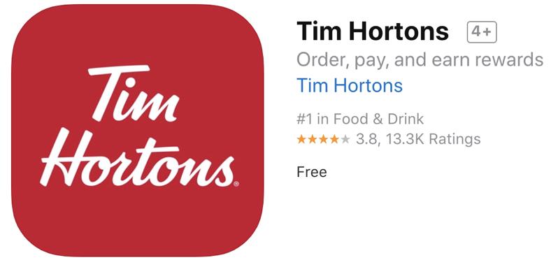 Tim hortons app itunes
